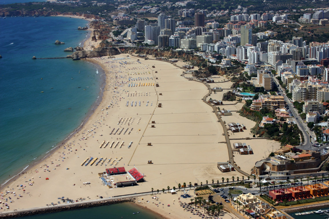 Praia da Rocha from the air