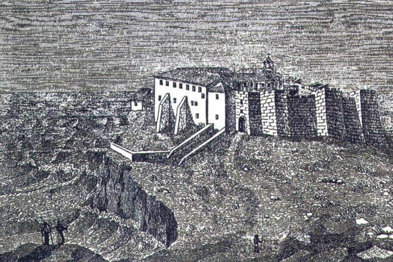 Drawing of the Monastery of the Cape of St. Vincent