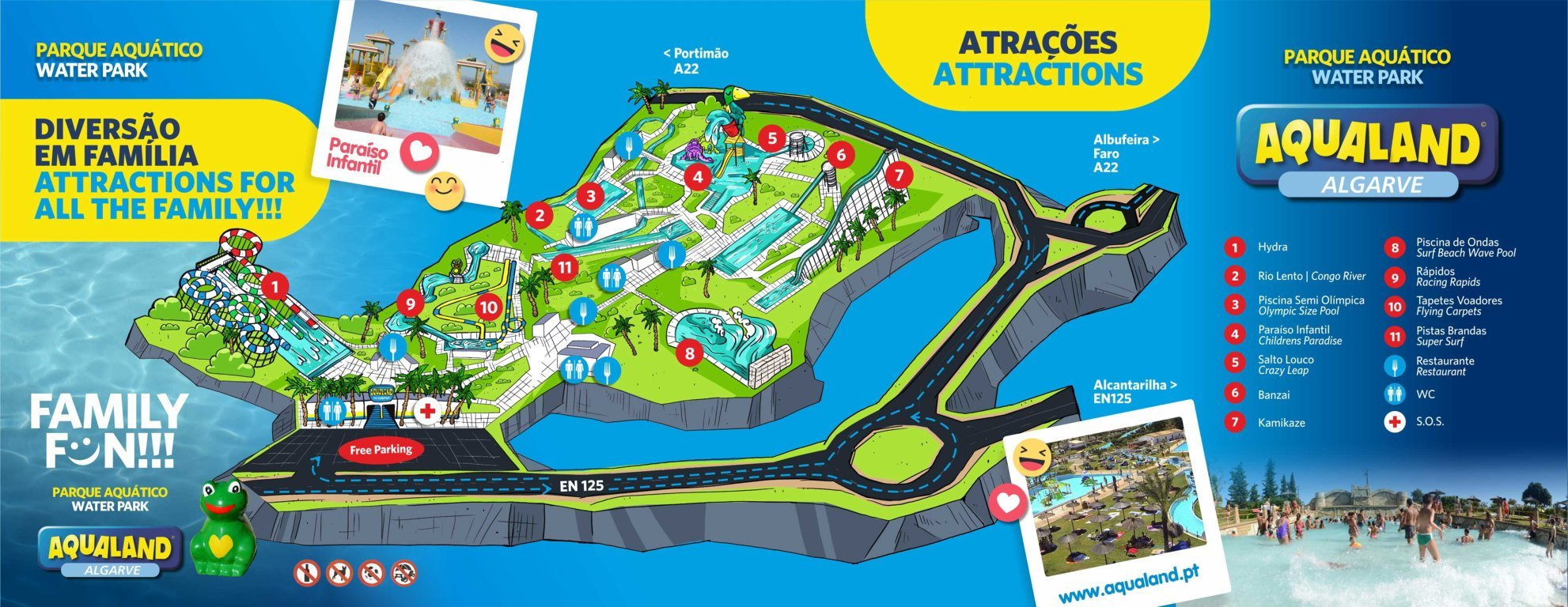 Map of Aqualand Algarve