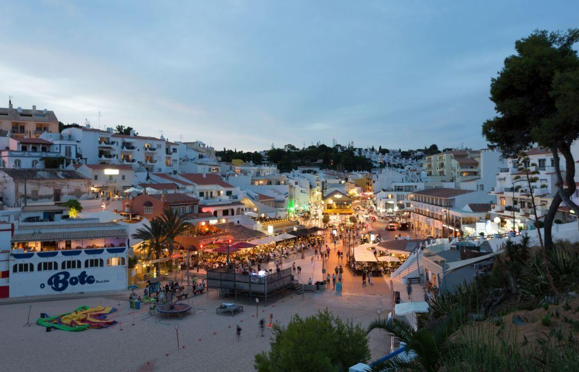 Carvoeiro town in the evening