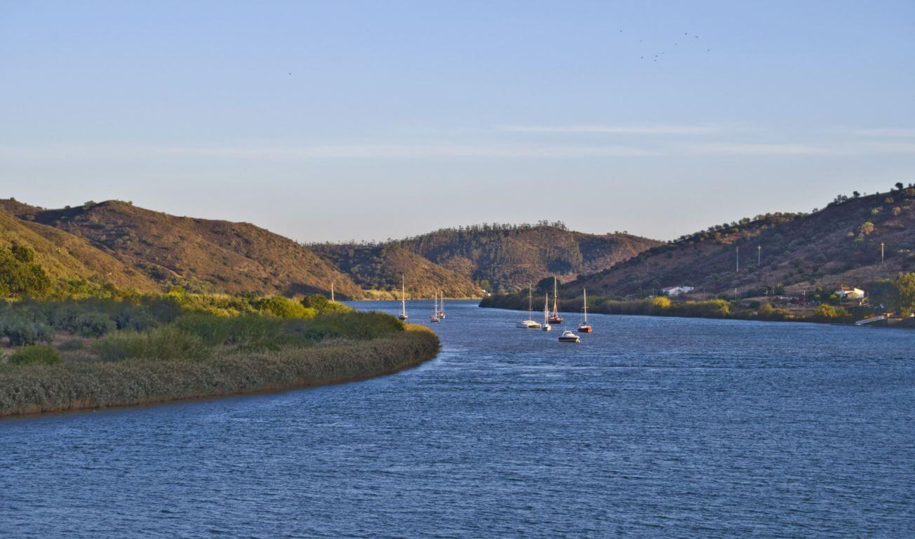 Guadiana river view