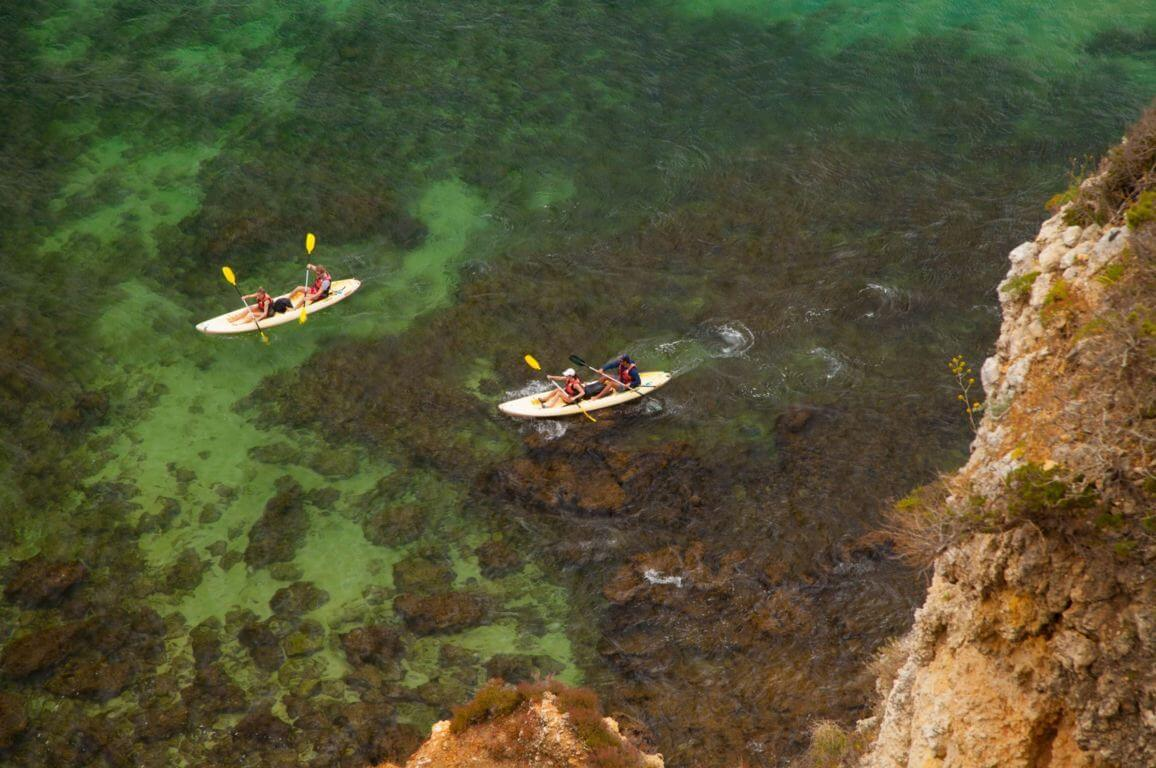 Kayaking at Praia do Camilo