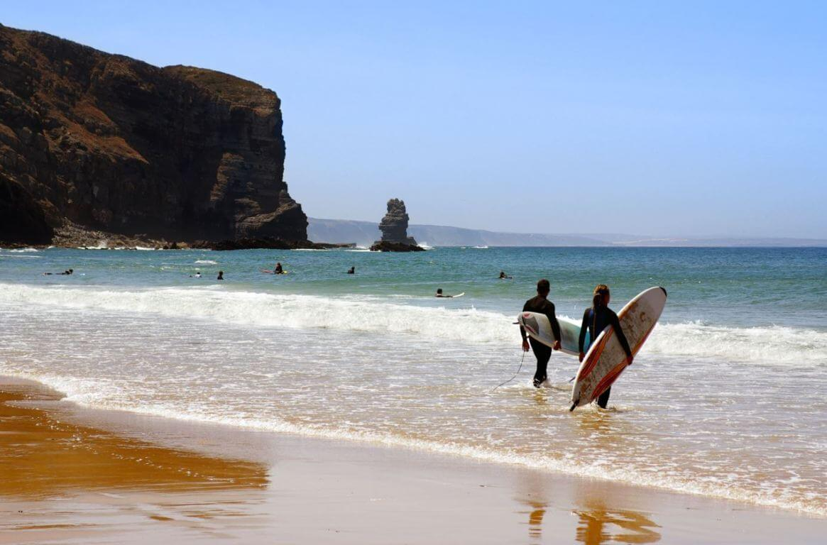 Surfing at Praia da Arrifana