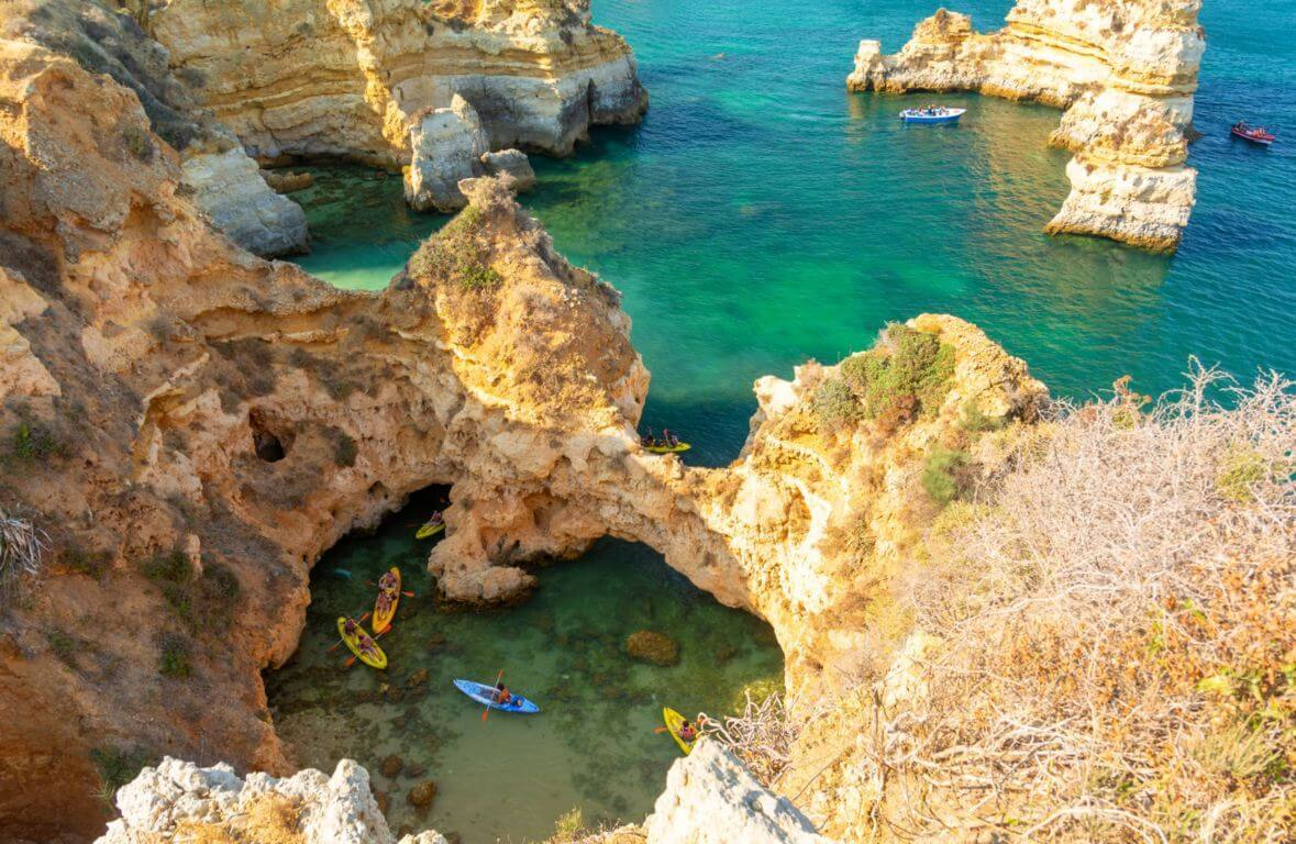 Kayaking near Ponta da Piedade in Lagos