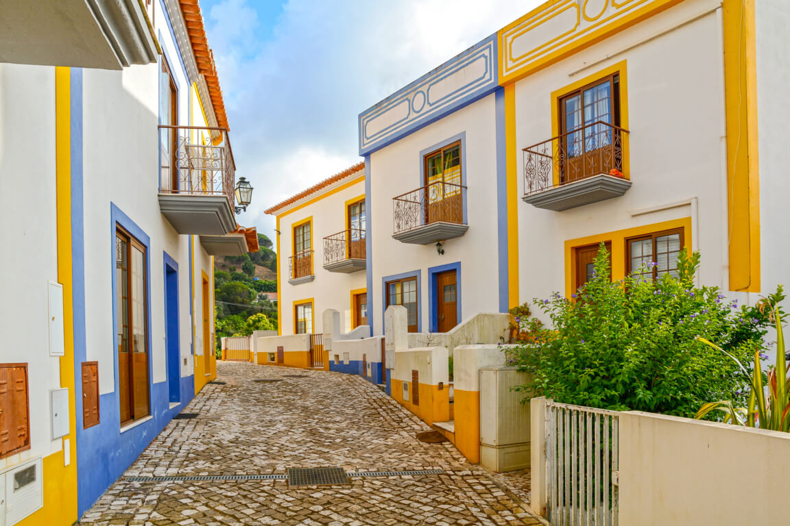 Typical houses in the Algarve - near Carrapateira