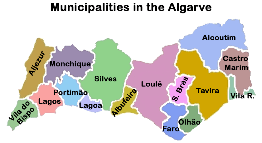 Municipalities in the Algarve