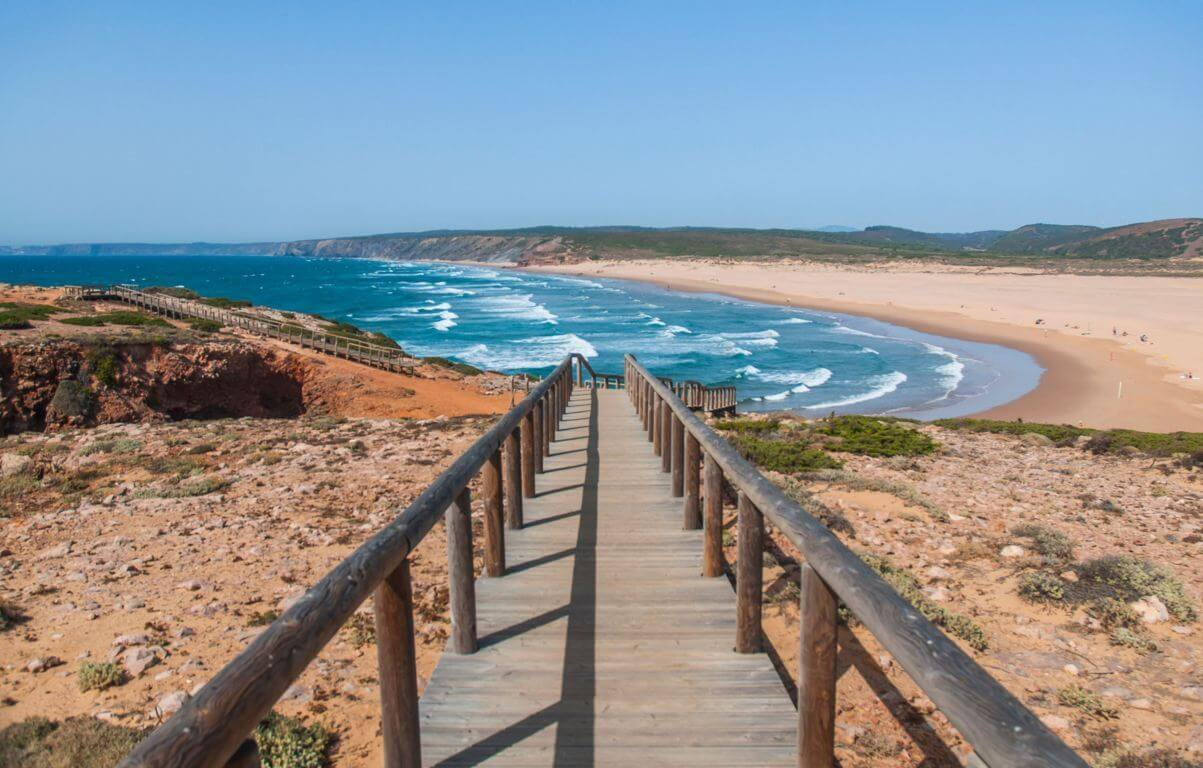 Praia da Bordeira in the Algarve