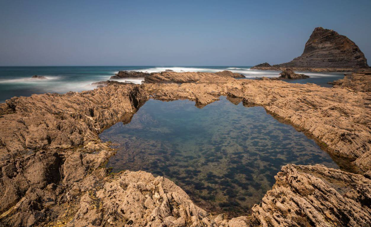 Rock pool on the northern side of the beach