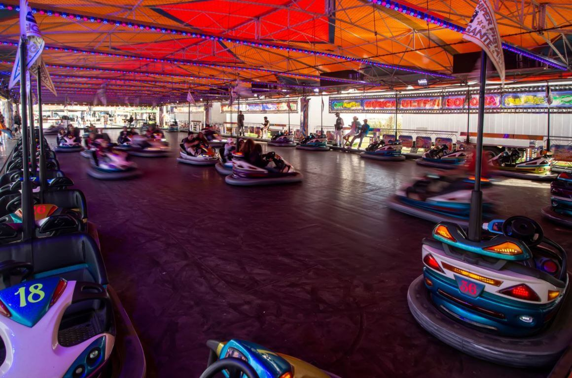 Bumper cars at the fair