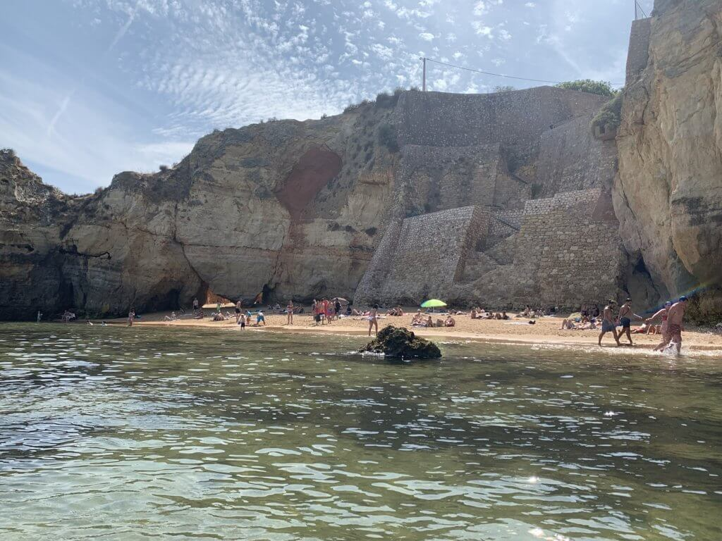 Praia do Pinhão from the water