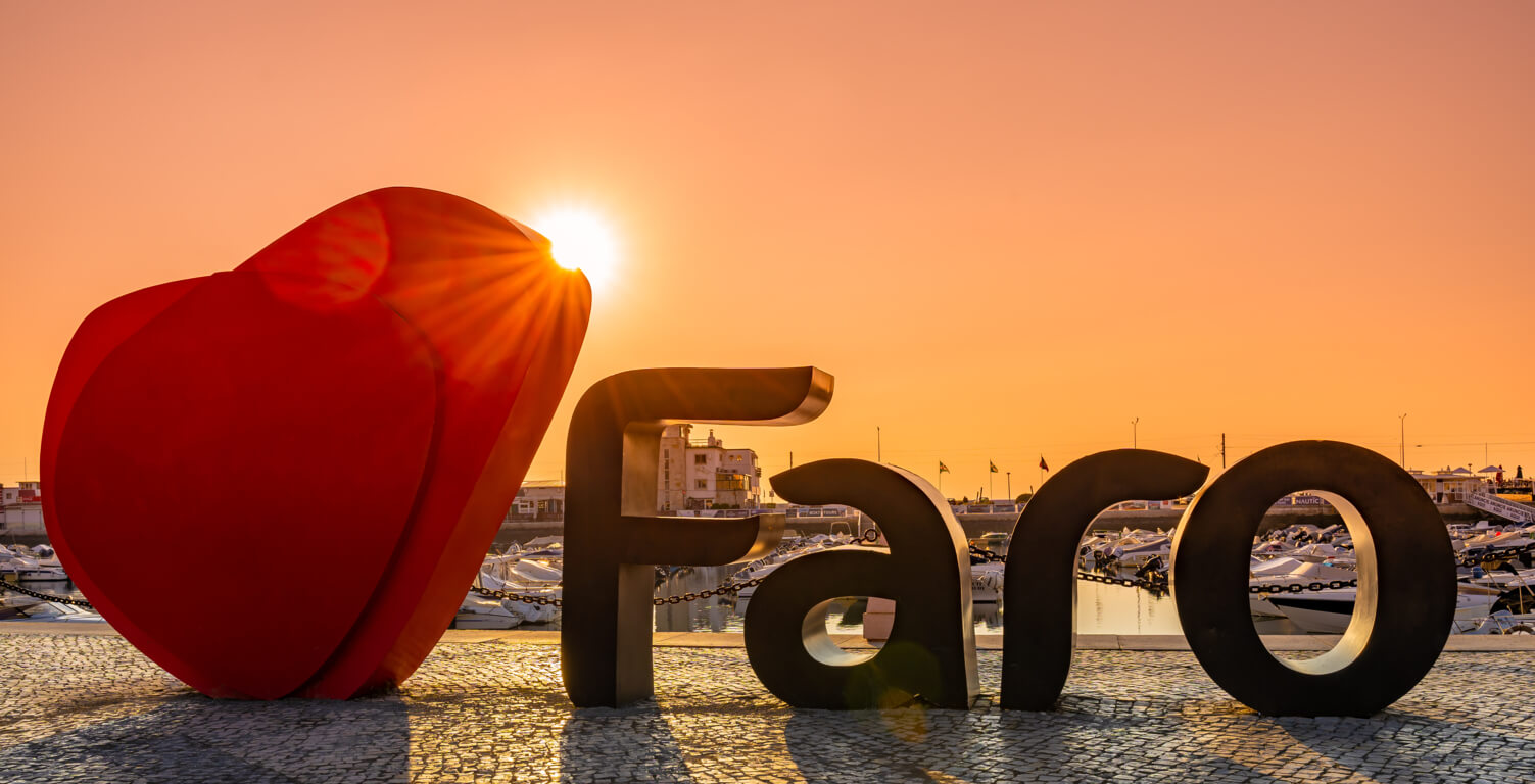 Faro sign near the marina