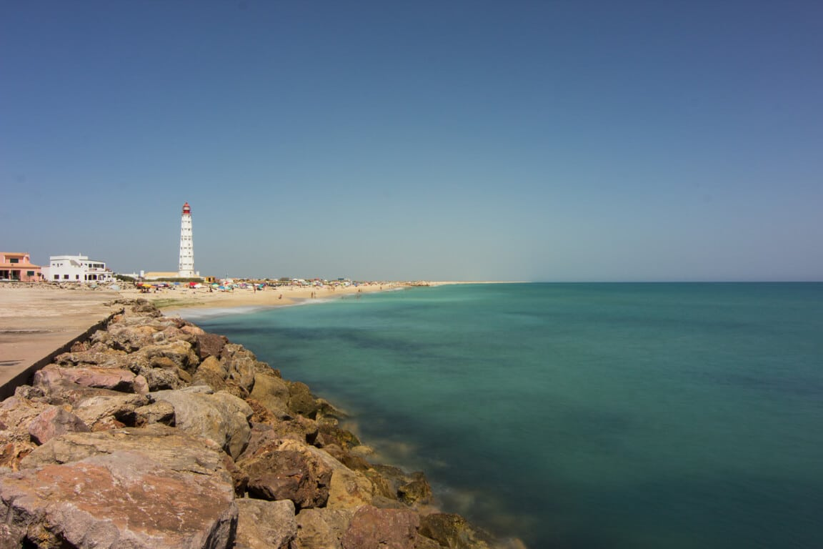 View from the pier over Praia do Farol
