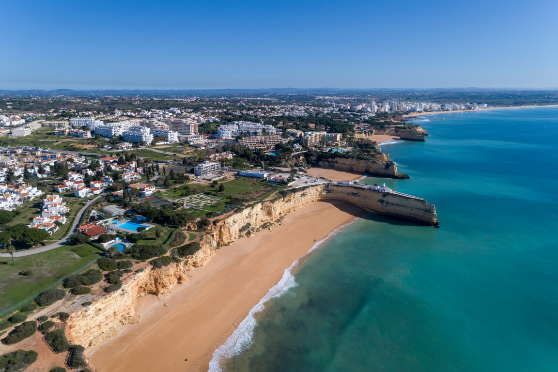 Aerial view of Praia Nova