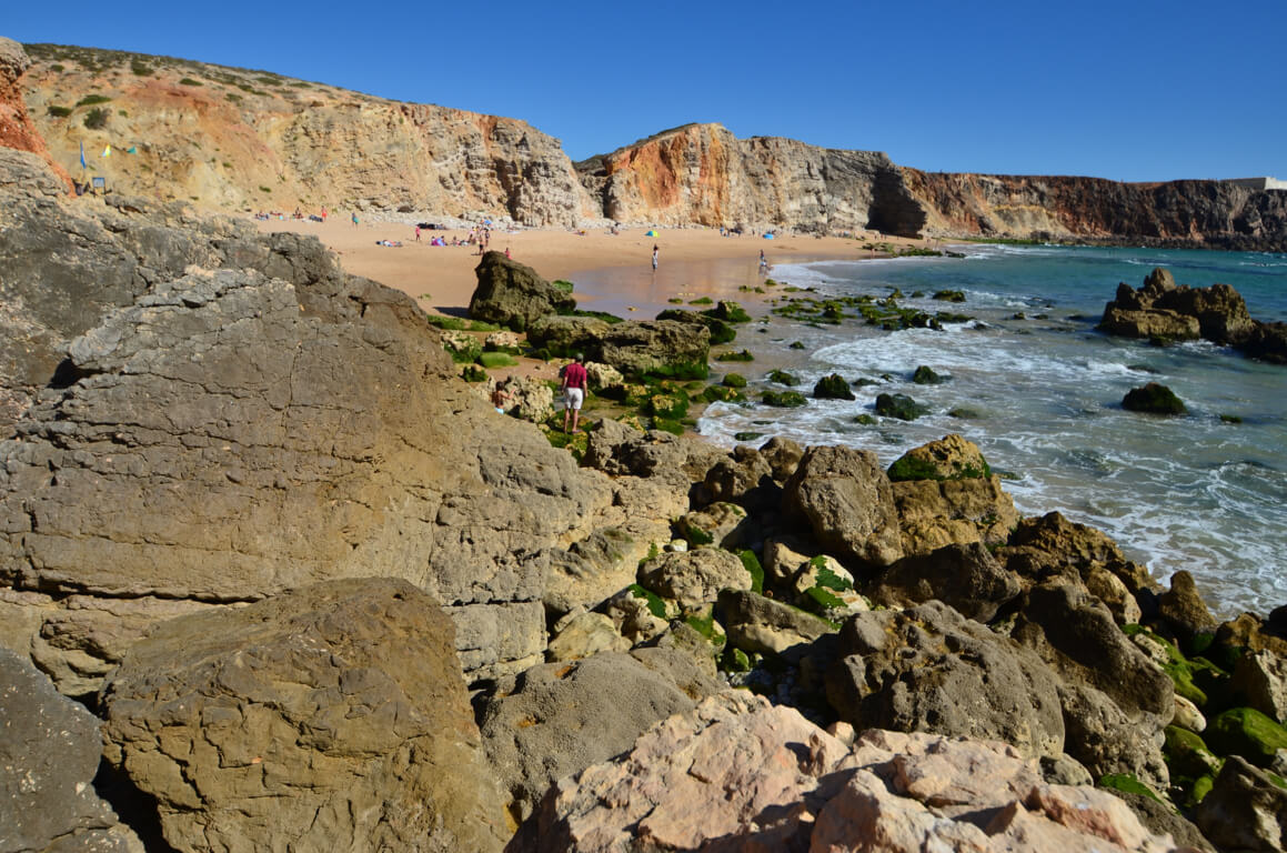 Rocky area on Praia do Tonel