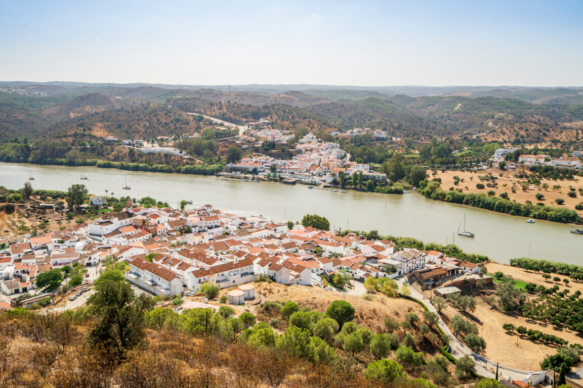 The Guadiana river between Spain and Portugal