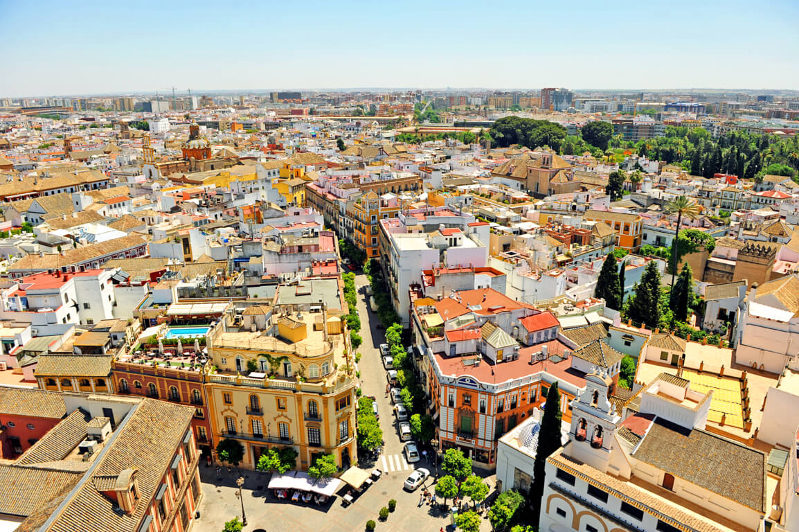 View over Seville from the Giralda bell tower