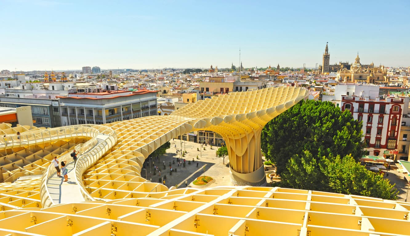 Walking on top of Metropol Parasol